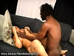 Pregnant ebony craves for a..