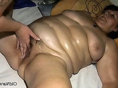 Fat mature slut goes crazy..
