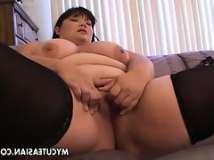 Bbw asian amateur fucked..