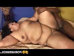 Fat black slut enjoys a hard..