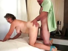 Hairy granny enjoying nasty..