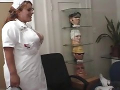 Horny nurse giving a nice..