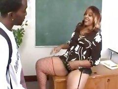 Thick ebony teacher