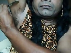 Indian girl shaving armpits..