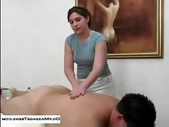Hot massage handjob and..