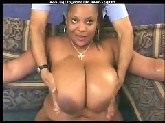 Bbw black slut takes white..