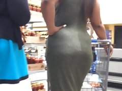 Candid ebony curves in olive..