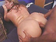 Cute chubby lady banged from..