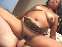Slutty fat babe is riding on..