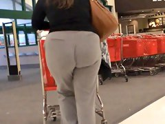 Dumpy grey pants pawg bbw
