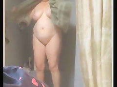 Bbw wife shower spy