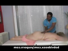 A blonde bbw and a masseur..