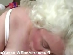 Bbw momma s first blowjob in..