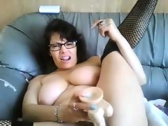 Thick slut with glasses..