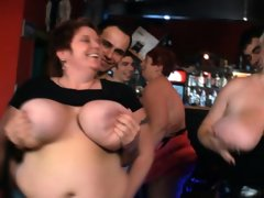 Funny big tits party in the..