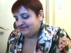 Fat old webcam woman