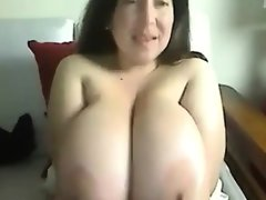 Cute woman with large breasts
