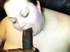White fat chick eating a bbc..
