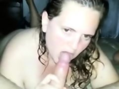 Chubby amateur chick eating..