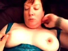 Fat milf gets plowed by her..