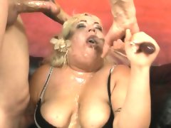 Fat blonde amateur with..